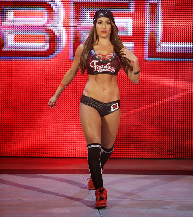 EXCLUSIVE.Coleman-Rayner.Los Angeles, CA, USA. January 27th, 2014.  Professional wrestlers Brianna & Nicole Garcia-Colace AKA The Bella Twins  display their ...
